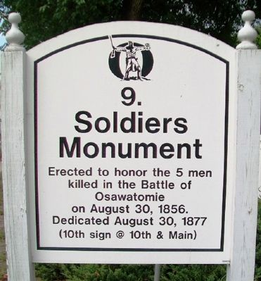 Soldiers Monument Marker image. Click for full size.