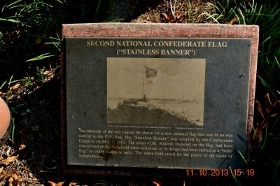Second National Confederate Flag Marker image. Click for full size.