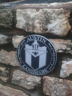 City of Austin Landmark sign on the marker. image. Click for full size.