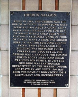 Oberon Saloon Marker image. Click for full size.