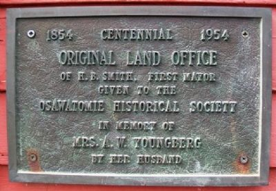 Original Land Office Marker image. Click for full size.