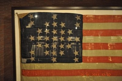 Battle Flag at Fort Sumter SC image. Click for full size.