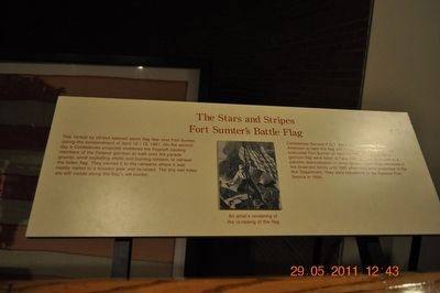 The Stars and Strips Fort Sumter's Battle Flag image. Click for full size.