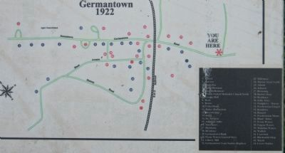 """Reflections of Old Germantown"" Marker image. Click for full size."
