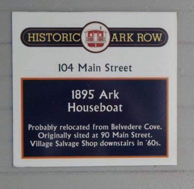 1895 Ark Houseboat Marker image. Click for full size.
