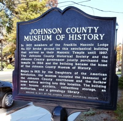 Johnson County Museum of History Marker image. Click for full size.