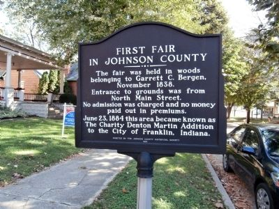 First Fair in Johnson County Marker image. Click for full size.