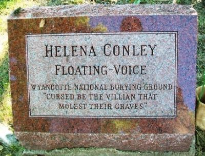 Helena Conley Marker image. Click for full size.