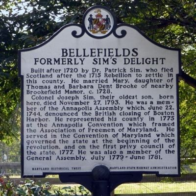 Bellefields Marker image. Click for full size.