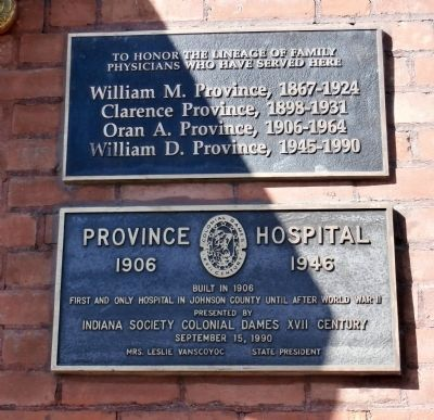 Province Hospital Marker image. Click for full size.
