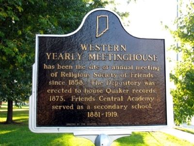 Western Yearly Meeting House Marker image. Click for full size.