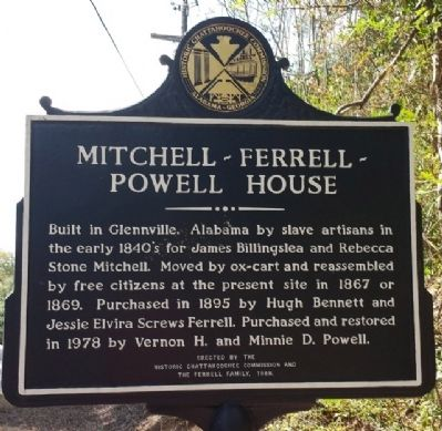 Mitchell-Ferrell-Powell House Marker image. Click for full size.