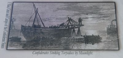 Top Left Image: Confederates Sinking Torpedoes by Moonlight. image. Click for full size.