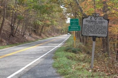 Bath County / Rockbridge County Marker image. Click for full size.