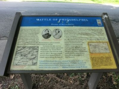 Battle of Philadelphia Marker image. Click for full size.