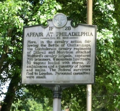 Affair at Philadelphia Marker image. Click for full size.