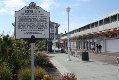 Ocean City Marker seen along the Boardwalk image. Click for full size.