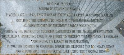 Original Federal Boundary Stone Northeast 7 Marker image. Click for full size.