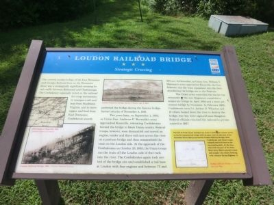 Loudon Railroad Bridge Marker image. Click for full size.