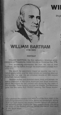 William Bartram marker detail image. Click for full size.