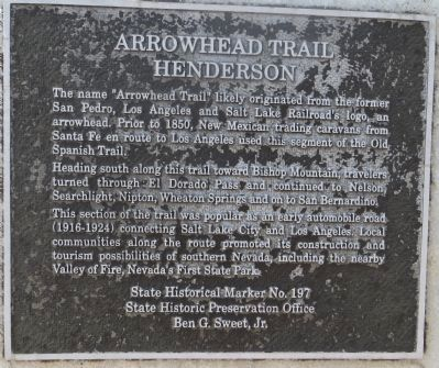 Arrowhead Trail Marker image. Click for full size.