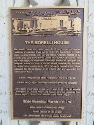 The Morelli House Marker image. Click for full size.