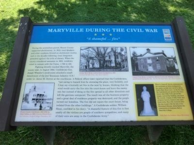 Maryville During the Civil War Marker image. Click for full size.