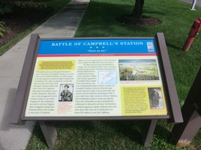 Battle of Campbell's Station Marker image. Click for full size.