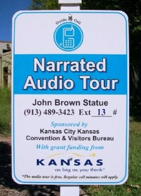 John Brown Monument Audio Sign image. Click for full size.