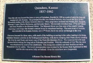 Quindaro, Kansas Marker image. Click for full size.