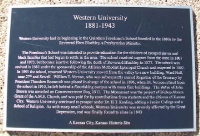 Western University Marker image. Click for full size.
