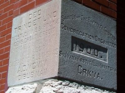 St. John the Baptist Catholic Church Cornerstone image. Click for full size.
