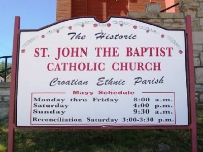 St. John the Baptist Catholic Church Sign image. Click for full size.