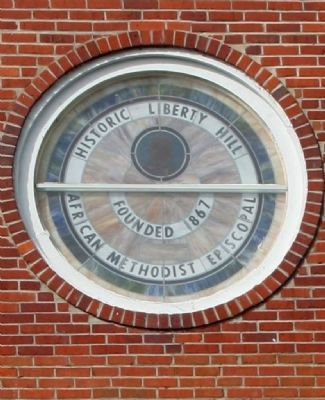 Liberty Hill Church Window image. Click for full size.
