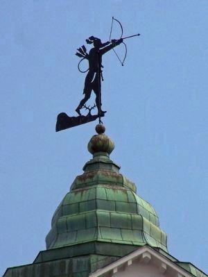 King Haiglar Tower Weathervane close-up image. Click for full size.