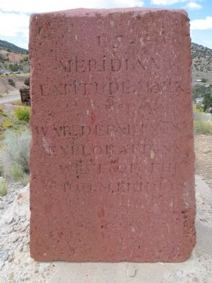 Wheeler Monument Marker <i>south side</i> image. Click for full size.