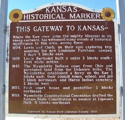 This Gateway to Kansas Marker image. Click for full size.