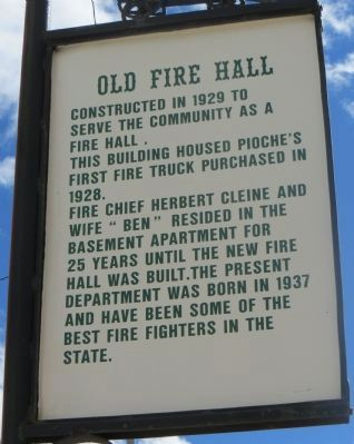 Old Fire Hall Marker image. Click for full size.