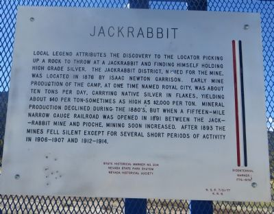 Jackrabbit Marker image. Click for full size.