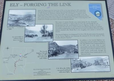 Ely - Forging the Link Marker image. Click for full size.