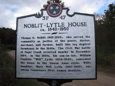 Noblit-Lytle House Marker image. Click for full size.