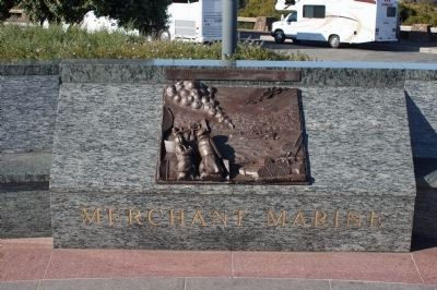 View NE - The Lone Sailor Memorial Merchant Marine Panel image. Click for full size.