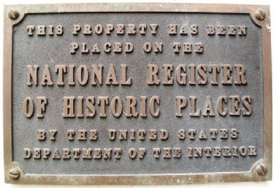 430 Main Street NRHP Marker image. Click for full size.