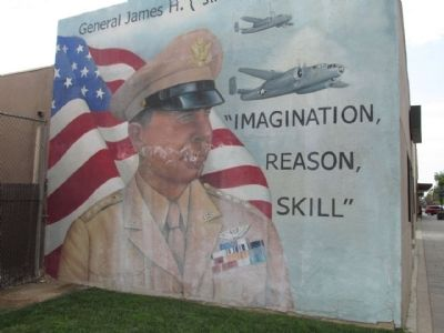 "Lt. Gen. James H. ""Jimmy"" Doolittle, (USAF Retired) Mural image. Click for full size."