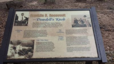 Franklin D. Roosevelt and Dowdell's Knob Marker image. Click for full size.