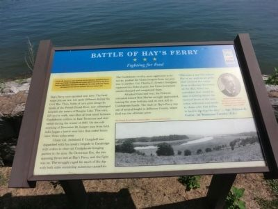 Battle of Hay's Ferry Marker image. Click for full size.