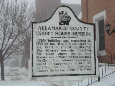 Allamakee County Court House Museum Marker image. Click for full size.