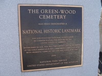 The Green-Wood Cemetery Marker image. Click for full size.