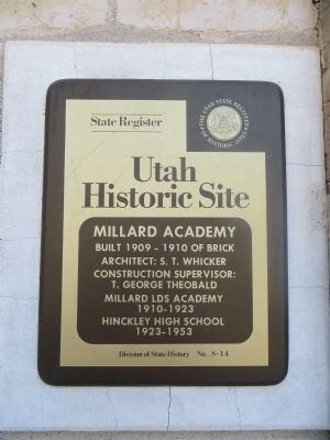 Millard Academy Marker image. Click for full size.