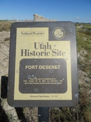 Fort Deseret Marker image. Click for full size.